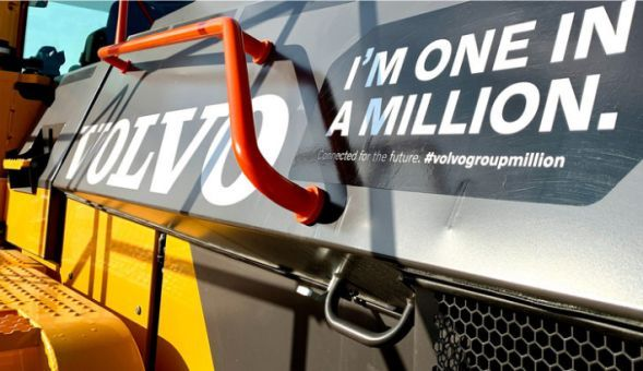 The Volvo Group passes the milestone of one million connected customer assets for increased sustainability, uptime and safety