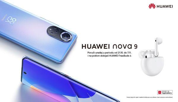 Zabeležite svaku nijansu dana i noći uz kamere Huawei nova 9 pametnog telefona